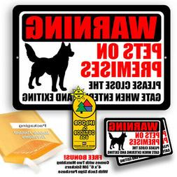 Dog Warning Sign Yard Trespassing Tin Indoor And Outdoor Use