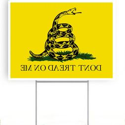 "DON'T TREAD ON ME yard sign with stake 18""x24"""