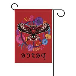 ALAZA Double Sided Lovely Bird Colorful Owl Spring Flower Pe