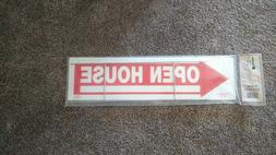 Double Sided OPEN HOUSE Arrow Sign Corrugated Plastic with Y
