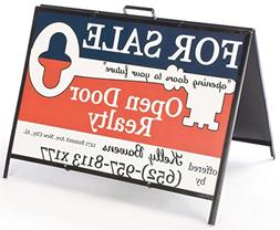 double sided real estate sign