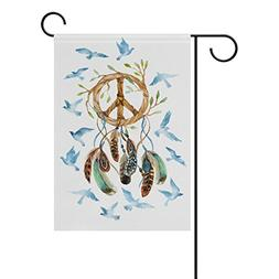 ALAZA Double Sided Watercolor Dream Catcher with Birds Feath