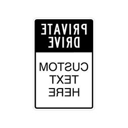 Private Drive Sign with 3 Customizable Lines – Engineer Gr