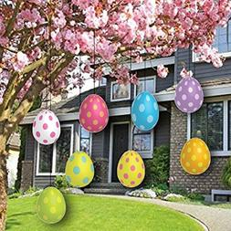 Easter Yard Decorations - FLAT Hanging Easter Eggs