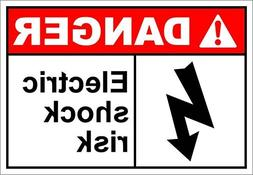 Electric Shock Risk Danger Funny Yard Decorative Signs for O