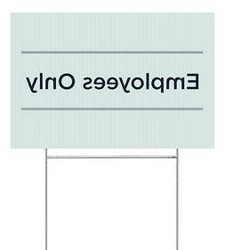 CGSignLab |Employees Only -Basic Teal Double-Sided Corrugate