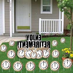 Enjoy Retirement! Nothing But Time! Yard Card- Retirement Cl