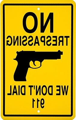 GVGs Shop 1-Pc Excelling Popular No Trespassing Signs Anti-T