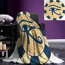 smallbeefly Eye Throw Blanket Ancient Healing Protection Sym