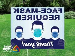face mask required yard sign double sided