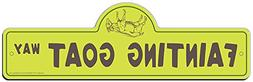 SignMission Fainting Goat Street Sign | Indoor/Outdoor | Fun