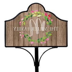 GiftsForYouNow Family Wreath Personalized Magnetic Yard Sign
