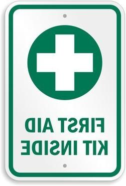First Aid Kit Inside , Funny Yard Decorative Signs for Outdo