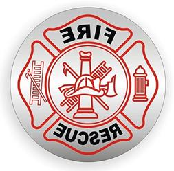 1 PC First-class Popular Fire Rescue Vinyl Sticker Easy to I