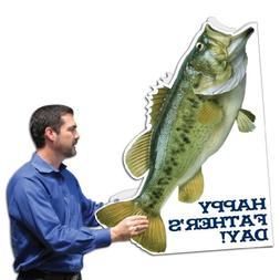 VictoryStore Jumbo Greeting Cards: Fish Shaped Father's Da