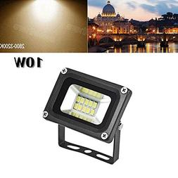 LED Flood Light,10W 1000lm 2800-3500K Warm White,IP65 Waterp