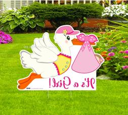 Yard Outdoor It's a Girl Announcement - Welcome Newborn Yard