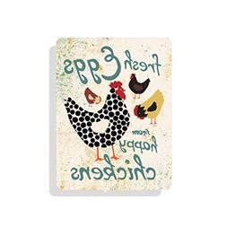 """Yohoba Fresh Eggs From Happy Chickens 9"""" X 12"""" Seaport Colle"""