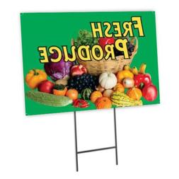 Fresh Produce Full Color Double Sided Sidewalk Signs