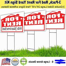 Visibility Signage Garage Sale Lawn Sign Kit with Free Perma