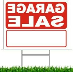 """Garage Sale Large Outdoor 24""""x18"""" Land Yard Sign With Wire S"""