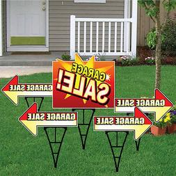 Garage Sale Sign Set with Arrows and Main Sign - Package of