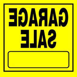 GARAGE SALE Sign Sturdy Yellow Plastic w blank moving yard e