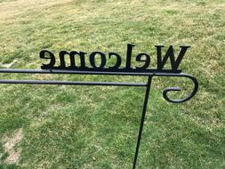 Metal Garden Yard Flag Holder Hook Stand Decoration Amish Ma