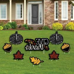 Big Dot of Happiness Give Thanks - Yard Sign and Outdoor Law