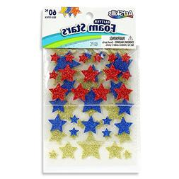 ArtSkills Glitter Foam Stars, Arts and Crafts Supplies, Peel