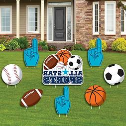Go, Fight, Win - Sports - Yard Sign & Outdoor Lawn Decoratio