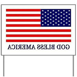 "God Bless America Yard Sign - 18 x 24"" Outdoor Corrugated Pl"