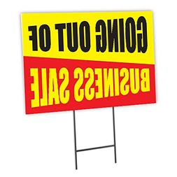 Going Out Of Business Sale Full Color Double Sided Sign