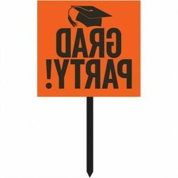 Graduation Yard Sign Orange Orange Graduation Party Supplies