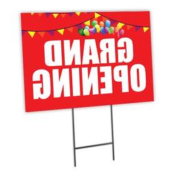 """Grand Opening Curbside Sign, 24""""w x 18""""h, Full Color Double"""