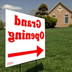 Grand Opening Directional Arrow - Curbside Yard Sign Lawn Si