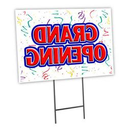 Grand Opening Yard Sign & Stake outdoor plastic coroplast wi
