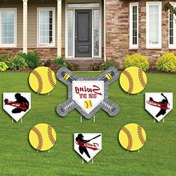Grand Slam - Fastpitch Softball - Yard Sign & Outdoor Lawn D