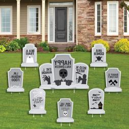 Big Dot of Happiness Graveyard Tombstones - Yard Sign and Ou
