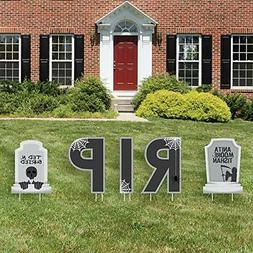 Big Dot of Happiness Graveyard Tombstones - Yard Sign Outdoo