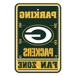 "Green Bay Packers 12""x18"" Plastic Fan Zone Parking Sign  NFL"