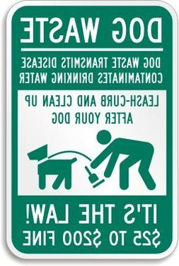 Green Funny Metal Sign for Dog Walker to Pick Up Their Dog's