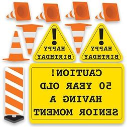 50th Greeting Cards Birthday Yard Decoration - Caution 50 Ye