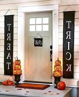 Trick or Treat Halloween Banner 3-Pc Set - Home Door Sign or