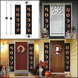 Halloween Decorations Outdoor Porch Sign Décor Banners Part