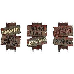 Halloween Signs Yard Stakes Decorations Home Holiday Decor O