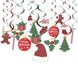 Juvale 30-Pack of Hanging Christmas Decorations - Festive Xm