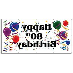 Happy 20th Birthday - 3' x 6' Vinyl Banner