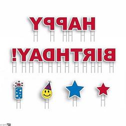 Yard Card HAPPY BIRTHDAY! Boy or Girl All-Weather 18pc Greet