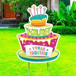 Happy Birthday Cake Yard Sign Honk - Its My Birthday Party L